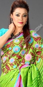 Eid Andy Silk & Moslin Dhakai Jamdani Saree, Eid Collection 2014, Saree, Sharee, Sari, Bangladeshi Saree