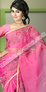 Pink Saree Dhakai Jamdani Saree, Eid Collection 2014, Saree, Sharee, Sari, Bangladeshi Saree