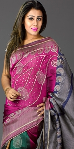 Kolka Katan Saree Dhakai Jamdani Saree, Eid Collection 2014, Saree, Sharee, Sari, Bangladeshi Saree