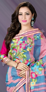 Love & Romance Saree Half Silk Saree, Andy Silk, ND Silk, Endy Silk, Bangladeshi Andy Silk Saree, Bangladesh Saree, eshop, Bangladeshi eShop Saree, Dhakai Jamdani Saree, Eid Collection 2014, Saree, Sharee, Sari, Bangladeshi Saree